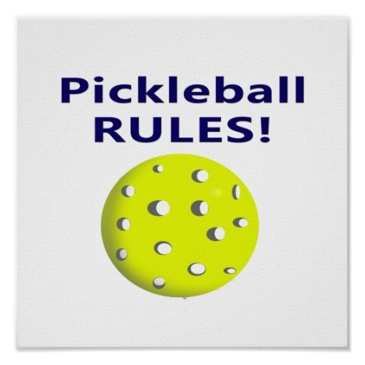 pickleball rules blue text version poster