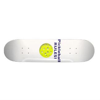 pickleball rules blue text version skate board decks