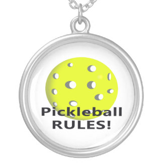 Pickleball Rules With yellow ball black text Jewelry