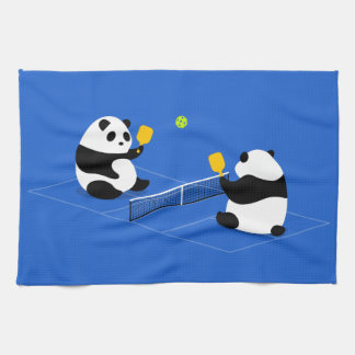 "Pickleball Sports Towel: ""Pickleball Pandas"" Tea Towel"