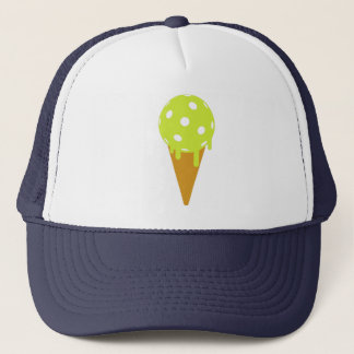 Pickleball Summer Ice Cream Cone Trucker Hat