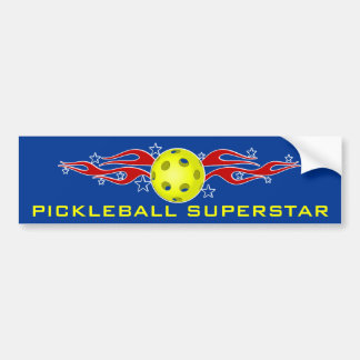 Pickleball Superstar Bumper Sticker