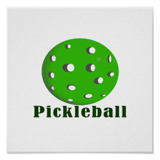 pickleball text n ball green.png poster