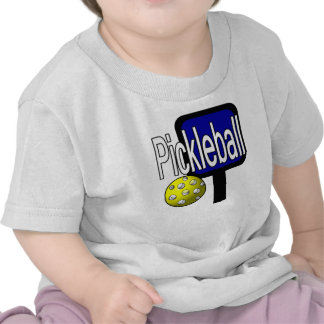 Pickleball with ball and paddle design picture tee shirts