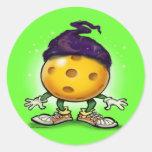 Pickleball Wizard Round Sticker