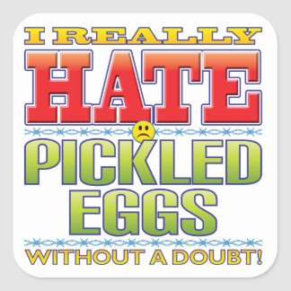 Pickled Eggs Hate Face Square Sticker