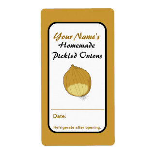 Pickled Onions Custom Canning Jar Labels Add Name