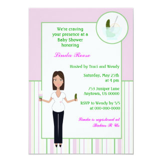 Pickles and Ice cream Girl Baby Shower Invitation