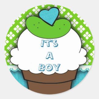 "Pickles & IceCream ""it's a boy"" sticker"