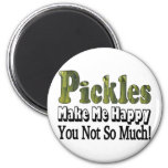 Pickles Make Me Happy Fridge Magnet