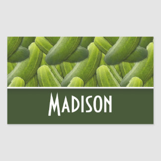 Pickles; Pickle Pattern Rectangular Sticker