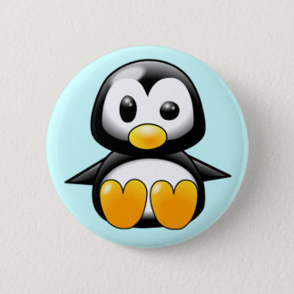 Pickles the Cute Baby Penguin Cartoon 6 Cm Round Badge