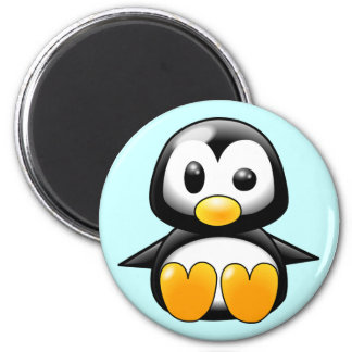 Pickles the Cute Baby Penguin Cartoon 6 Cm Round Magnet