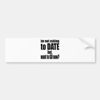 pickup line asking date black awesome party couple bumper sticker