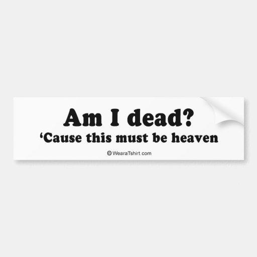 Pickup Lines - Am I dead? Bumper Stickers