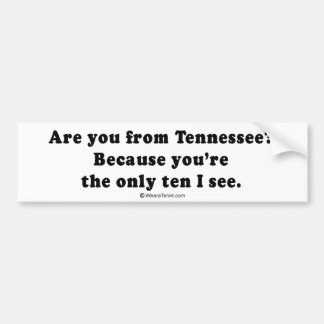 "PICKUP LINES - ""Are you from Tennessee? You're the Bumper Stickers"