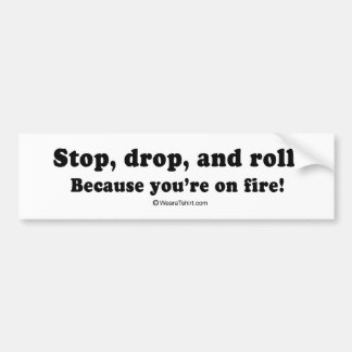 "PICKUP LINES - ""You're on fire"" Bumper Sticker"