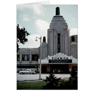 Pickwick Movie Theatre Park Ridge Watercolor Art Card