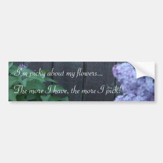 Picky Lilac Flowers Bumper Sticker