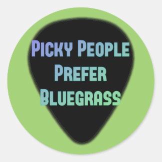 Picky People Prefer Bluegrass Round Sticker
