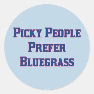 Picky People Prefer Bluegrass Stickers