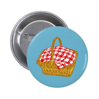 Picnic Basket 6 Cm Round Badge