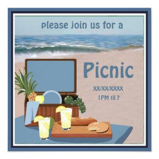 Picnic Basket  Beach Invitation