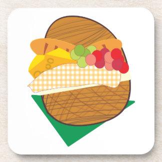 Picnic Basket Beverage Coasters