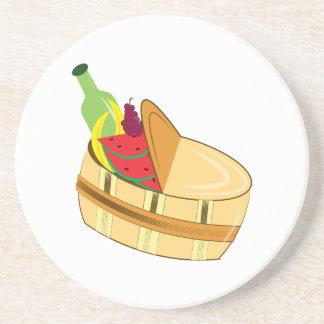 Picnic Basket Drink Coaster