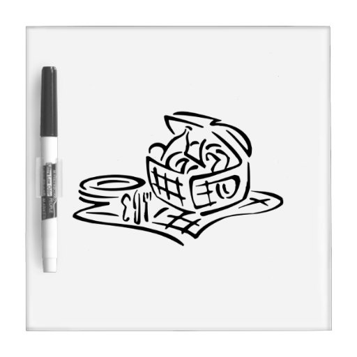 Picnic Basket Dry Erase Board