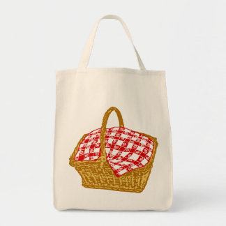 Picnic Basket Grocery Tote Bag