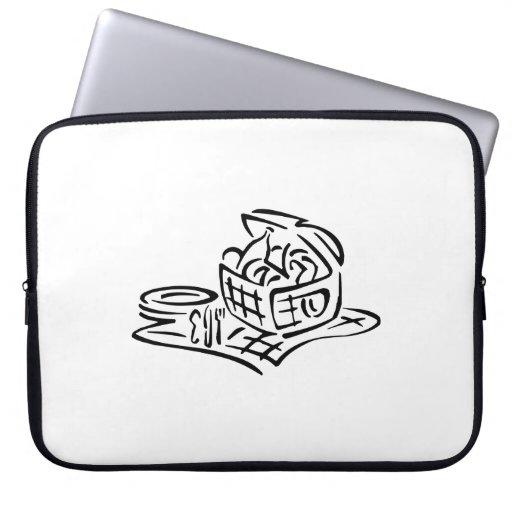 Picnic Basket Laptop Computer Sleeve