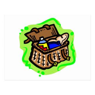 Picnic Basket Postcard
