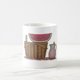 Picnic Basket & Watermelon Basic White Mug