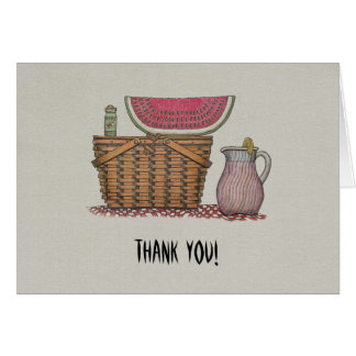 Picnic Basket & Watermelon Note Card