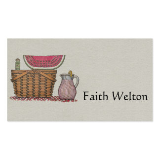 Picnic Basket & Watermelon Pack Of Standard Business Cards