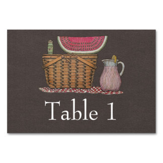 Picnic Basket & Watermelon Table Cards