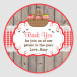 Picnic Birthday Party Thank You Favour Tag Sticker