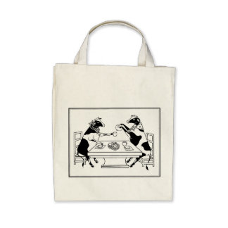 Picnic Cows Organic Tote Bag White