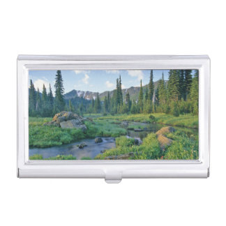 Picnic Creek in the Jewel Basin of the Swan Business Card Holder