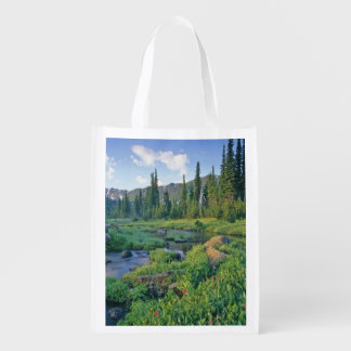 Picnic Creek in the Jewel Basin of the Swan Reusable Grocery Bag