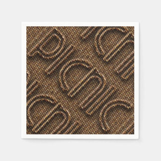 Picnic Funny Wicker Typography Paper Party Napkins Paper Napkin