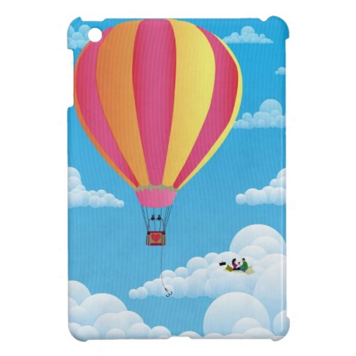 Picnic in a Balloon on a Cloud Cover For The iPad Mini