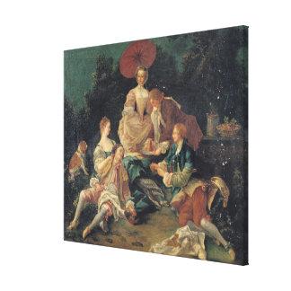 Picnic in a Park Canvas Print