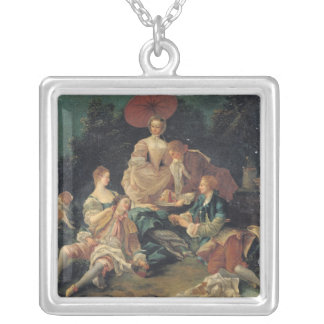 Picnic in a Park Silver Plated Necklace