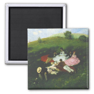 Picnic in May Square Magnet