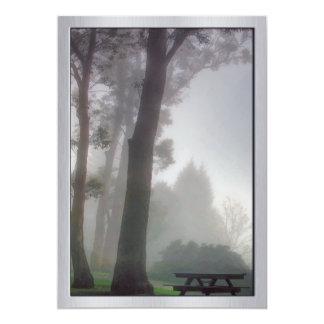 Picnic in the MIst in the Park 13 Cm X 18 Cm Invitation Card