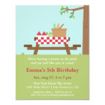 Picnic in the Park Birthday Party Invitations