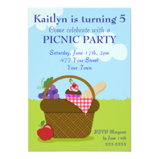 Picnic Party Personalized Announcements