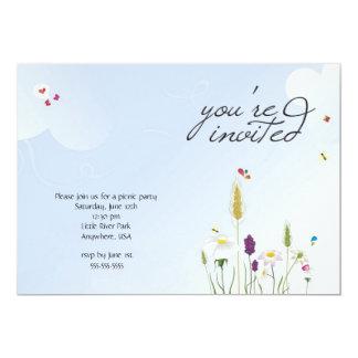 """Picnic Party Invitation 5"""" X 7"""" Invitation Card"""